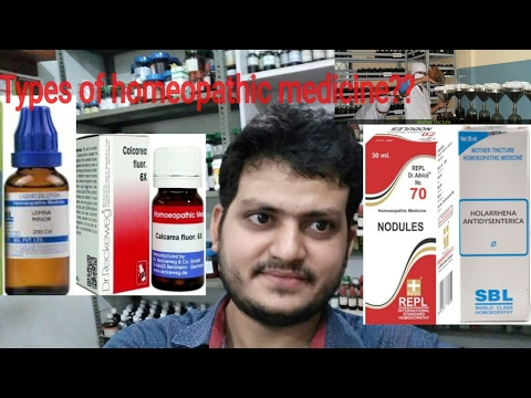 Video Types of homeopathic medicine?? homeopathic mother tinctures! dilution!?? explain?