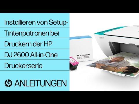 Installieren von Setup-Tintenpatronen bei Druckern der HP DeskJet 2600 All-in-One Druckerserie