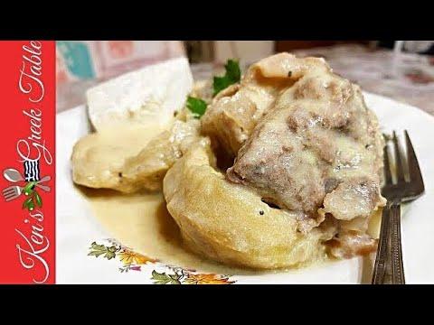 Pork & Artichoke Hearts Avgolemono   Classic Greek Recipes