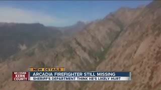 Search continues for missing Arcadia firefighter