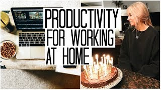 My 20th Birthday & Being Productive Working at Home | Girlboss