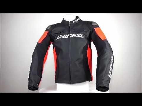 Dainese Racing 3 Leather Jacket Black / Red - ChampionHelmets.com