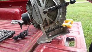 Repair a Jammed up / stuck miter saw