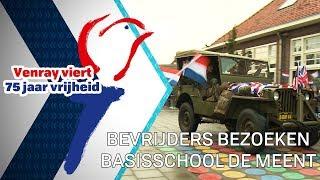 Bevrijders bezoeken basisschool De Meent - 30 september 2019 - Peel en Maas TV Venray