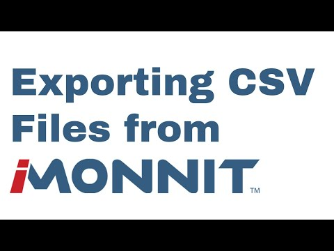 how to export a CSV file from iMonnit