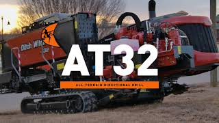 The Ditch Witch® AT32: Big on rock performance. Small on footprint.