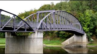 preview picture of video 'Saalebrücke in Harra'