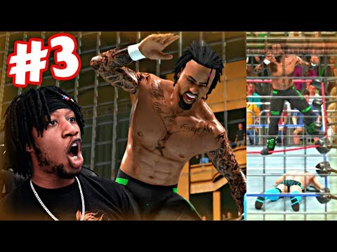WWE 2K19 MyCAREER - THE MOST DANGEROUS MATCH EVER INVENTED! RUSTY SCRAP TRAP STEEL CAGE MATCH!