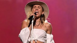 "Miley Cyrus CRIES During ""Malibu"" Performance At 2017 BBMAs"