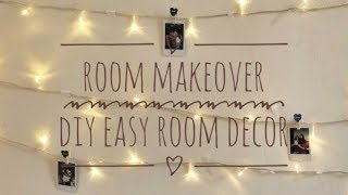 Makeover Kamar Kos | DIY Easy Room Decoration using String Lights| dindaussmi