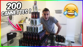 OMG ! ON A RECU 200 CANETTES ENERGISANTES !