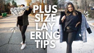 How to Layer Outfits in Cold Weather | Plus Size Fashion Tips