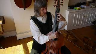 Left hand: position on the bass viol with Alison Crum