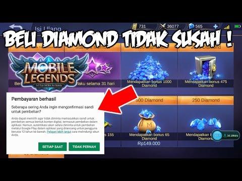 Cara Beli Diamond / Top Up Diamond Mobile Legends Dengan Mudah
