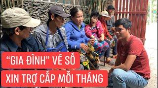 """Sáng chưa kịp bán sầu riêng, """"gia đình vé số"""" đến xin Khương Dừa trợ cấp hàng tháng"""