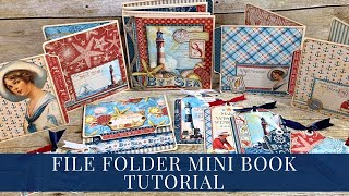 [Tutorial] Down By The Sea File Folder Mini Book For Graphic 45 By Donna Kauffman