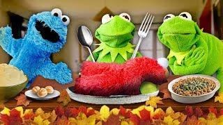 Kermit the Frog's Thanksgiving Dinner!