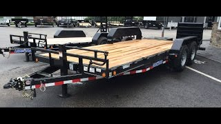 Load Trail 7x20 14000# Implement Equipment Trailer CH14 Monster Ramps
