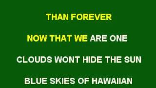 THE HAWAIIAN WEDDING SONG KARAOKE