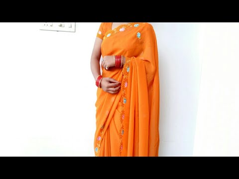 Soft Georgette Saree draping step by step tutorial