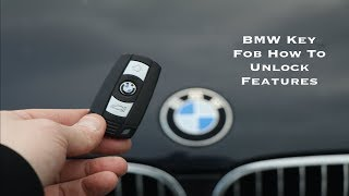 BMW Key Fob How To Unlock & Code Features