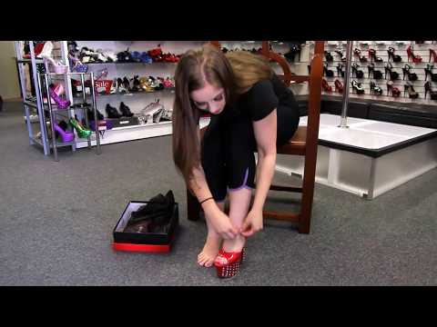 Review Pleaser Adore 709 VLRS Red Rhinestone 7 Inch High Heel Shoes