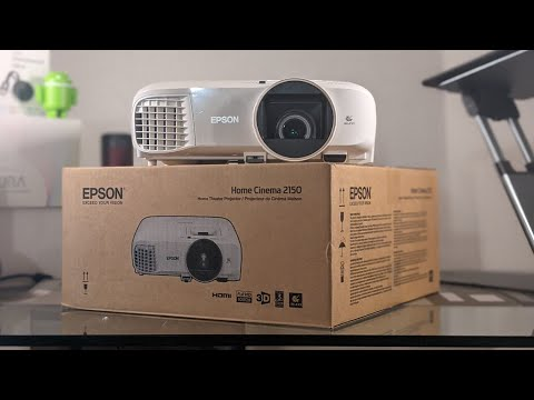 Epson Home Cinema 2150 Projector Unboxing & Setup Tutorial (TV & Gaming)