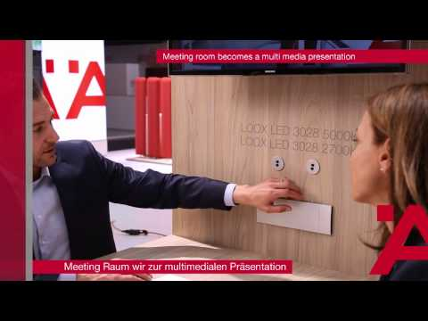 Häfele - Interzum 2015 - Meeting Room Becomes a Multimedia Presentation
