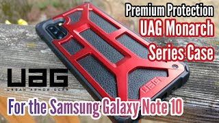 Samsung Galaxy Note 10 & the UAG Monarch Series 'Crimson'
