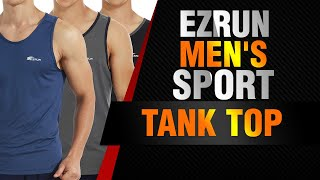 EZRUN Mens Quick Dry Sport Tank Top For Bodybuilding Gym Athletic Training Tank