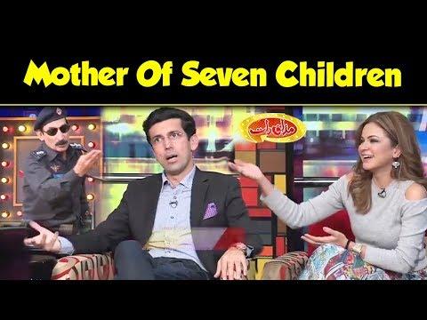 Mother Of Seven Children Wife Of Nirgoli | Mazaaq Raat | Dunya News