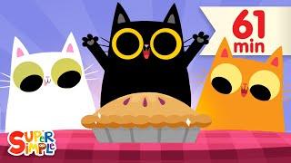 Three Little Kittens | + More Nursery Rhymes & Kids Songs | Super Simple Songs