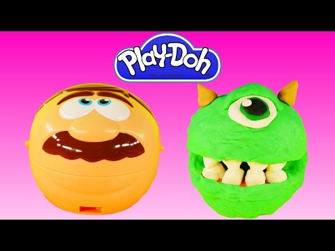 PLAY-DOH Dr. Drill and Fill Monsters Inc How To Make Play Doh Mike Wazowski Tutorial