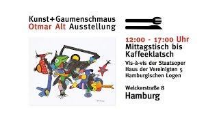 Otmar Alt kommt! Eröffnung der Ausstellung Kunst + Gaumenschmaus
