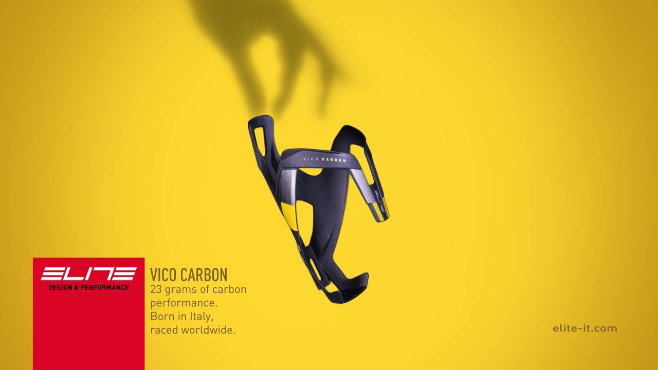 Видео Флягодержатель Elite Vico Carbon 2020 черно-белый(матовый)