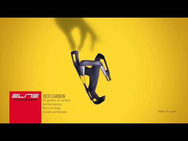 Видео Флягодержатель Elite Vico Carbon черно-красный