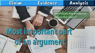 Essay writing: Claim Evidence Analysis - how to present an argument