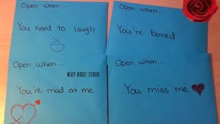 DIY: Open When Letters to boy & girlfriend/best friend etc. (Re-upload)