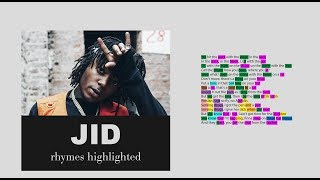 JID   Westbrook   2nd Verse   Lyrics, Rhymes Highlighted (060)
