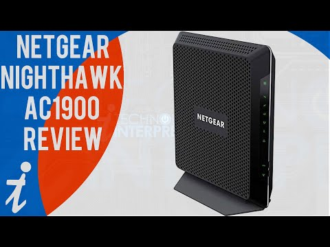 NETGEAR Nighthawk AC1900 WiFi Cable Modem Router Review | Model C6900