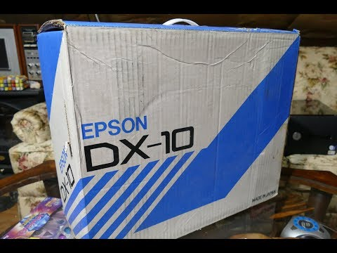 unboxing a new in box 1985 epson dx 10 printer found at good