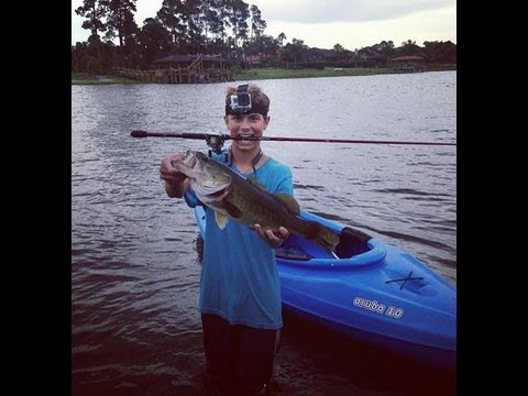 Monster Bass Kayak Fishing Lake Sylvan