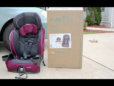 Evenflo Chase LX Harnessed Booster Car Seat Review, Reese ⭐