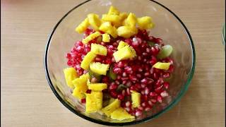 Fruit chaat - how to make fruit chaat- fruit chaat recipe