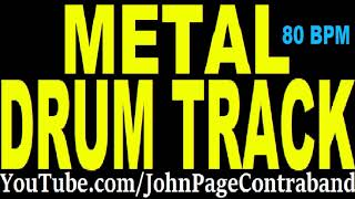 Slow Metal Drum Backing Track 80 bpm DRUMS ONLY Groove