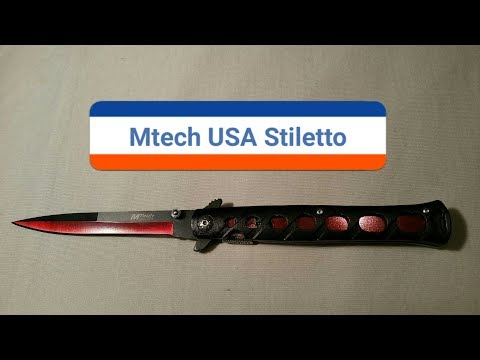 Mtech USA Stiletto rot   Unboxing + Review + Test