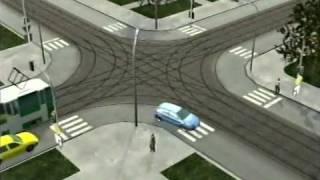 Смотреть онлайн Как проехать перекресток на автомобиле, обучение