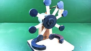 Free energy generator using dc motor with magnets , How to make DIY science project Experiment