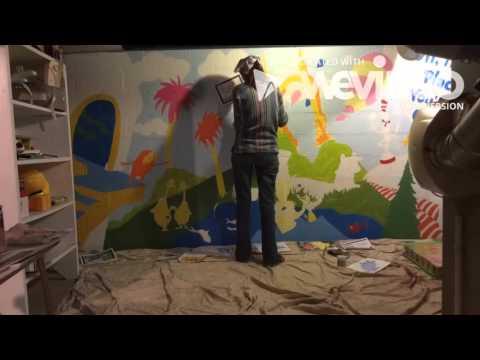 Mural, Seuss inspired by Imagination Jubilation!