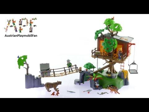 Vidéo PLAYMOBIL Wild Life 5557 : Cabane des aventuriers dans les arbres